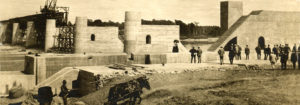 Lock and Dam construction in Lockport, Manitoba 1908