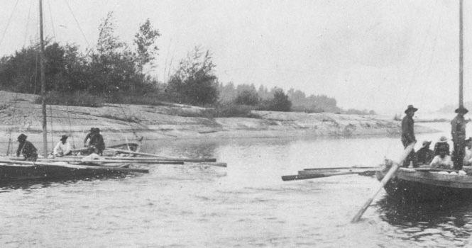 York boats in Manitoba, 1890