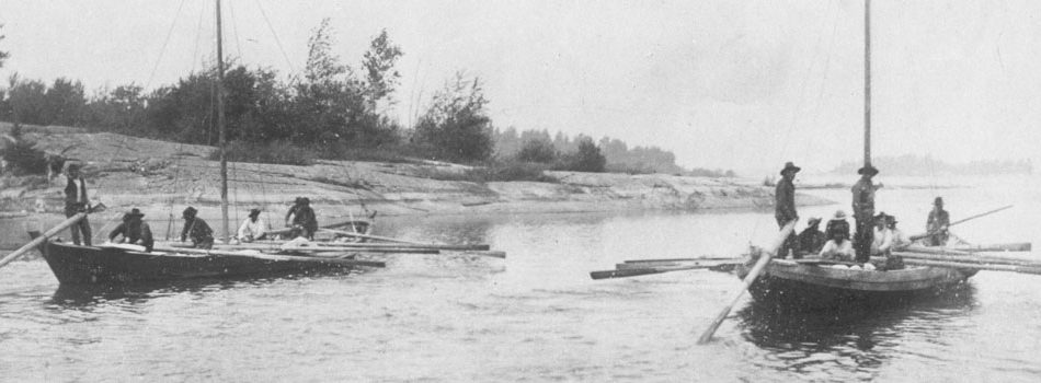 York boats in Manitoba, 1890