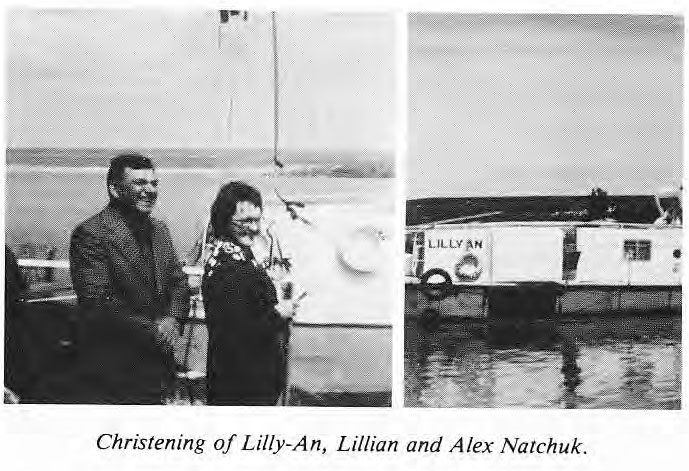 Christening of the Lilly-an, Lillian and Alex Natchuk