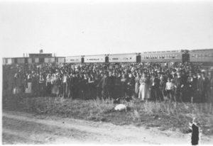 Immigrants Arrive by Rail