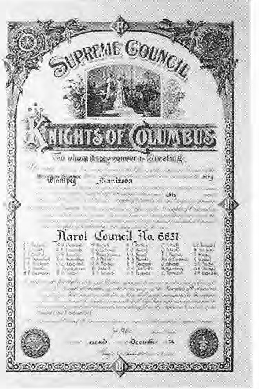 Narol Knights of Columbus Plaque