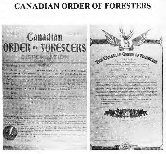 Order of Foresters Documents
