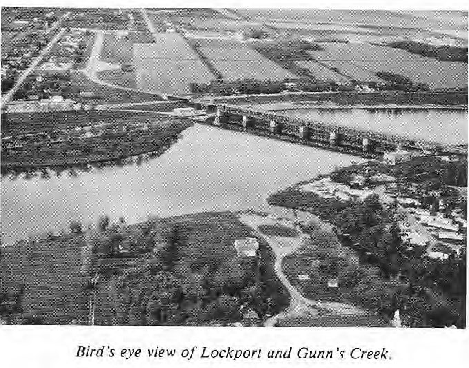 Bird's Eye View of Lockport and Gunn's Mill