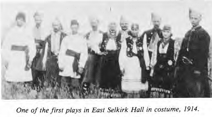 Play at East Selkirk Hall 1914