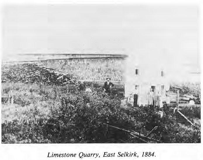 Limestone Quarry East Selkirk, 1884