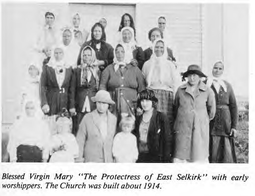 "Blessed Virgin Mary ""Protectress of East Selkirk"" 1914"