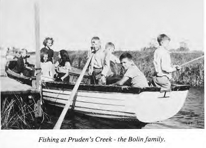Fishing at Pruden's Creek