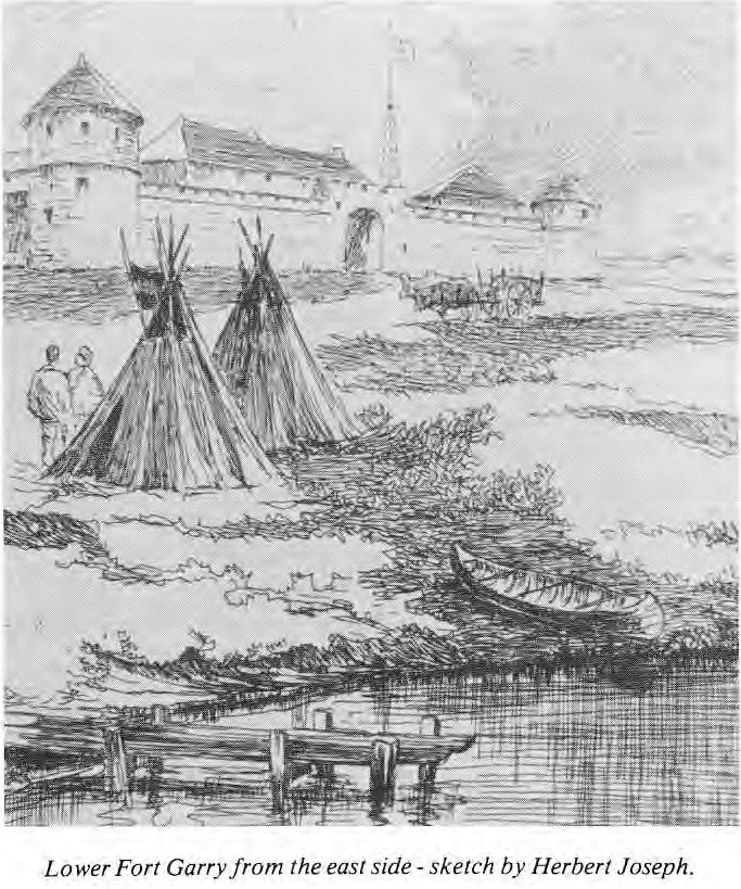 Lower Fort Garry Sketch