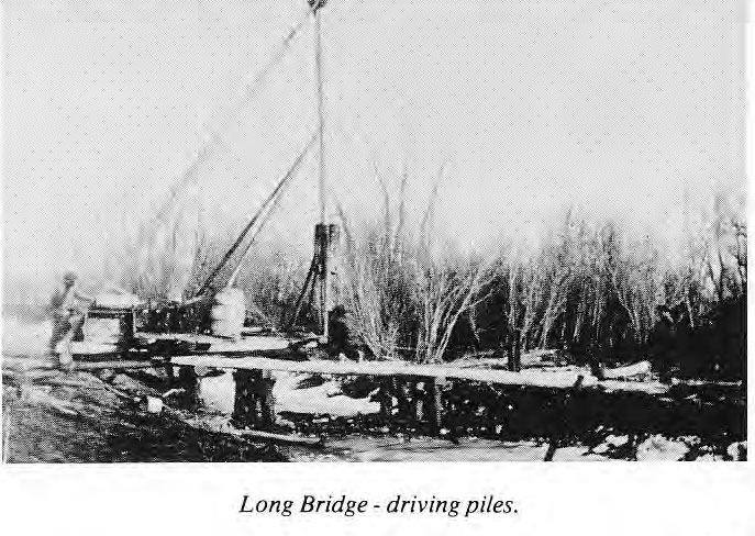 Driving the Piles for Long Bridge