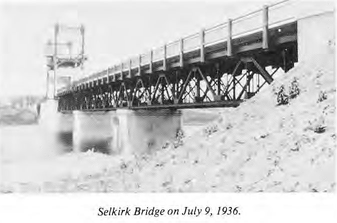 Selkirk Bridge on July 9, 1936