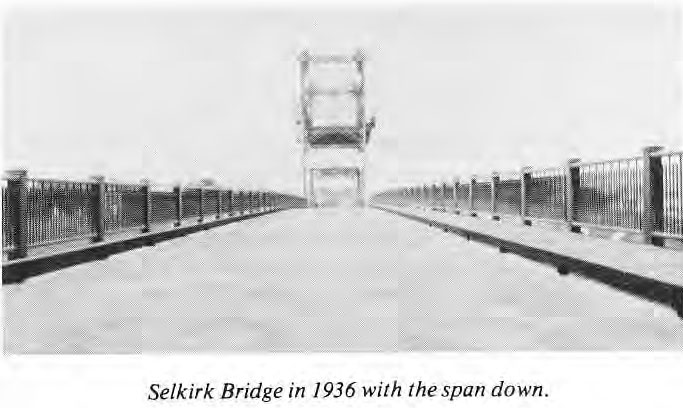 Selkirk Bridge 1936 with span down