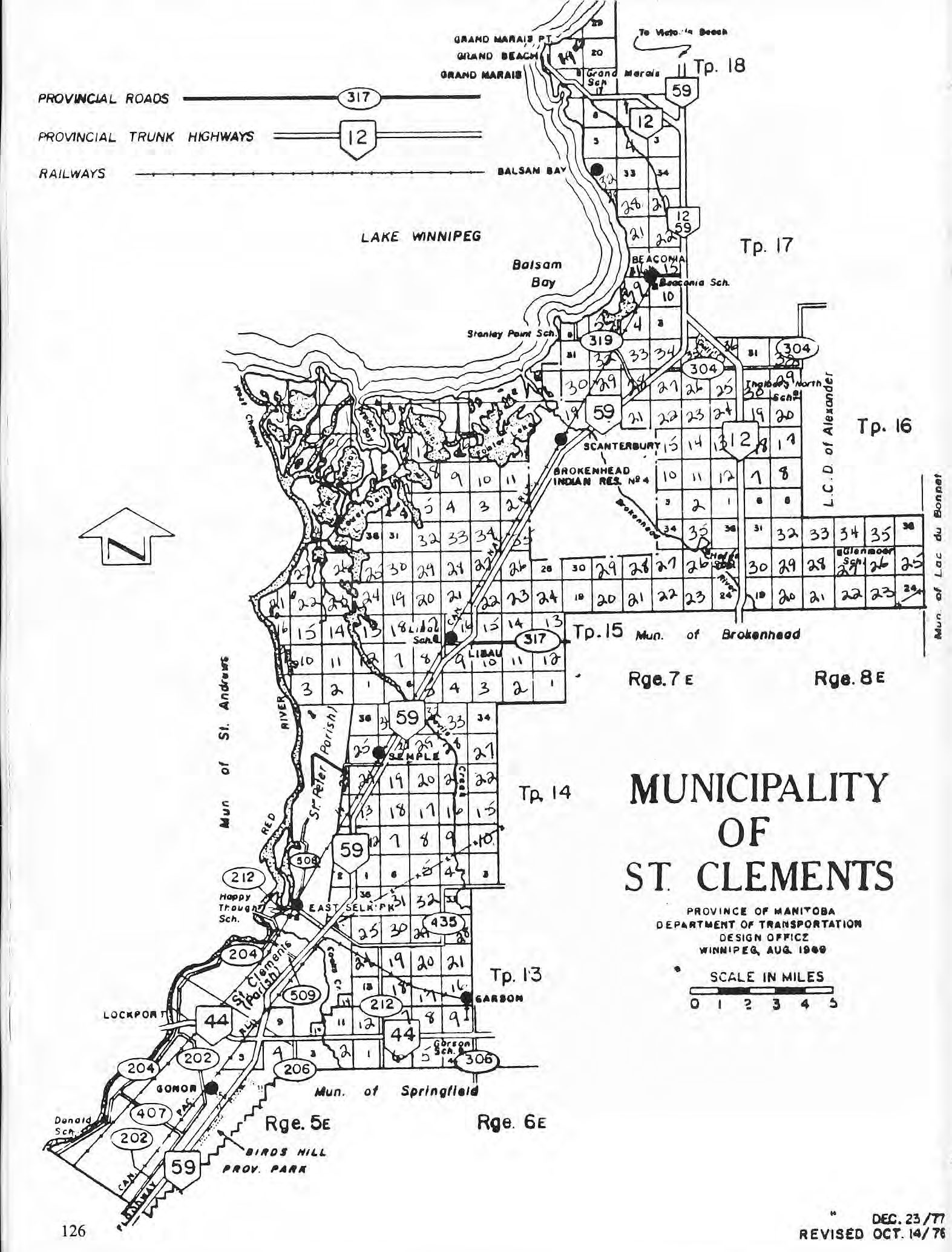 Map of St. Clements