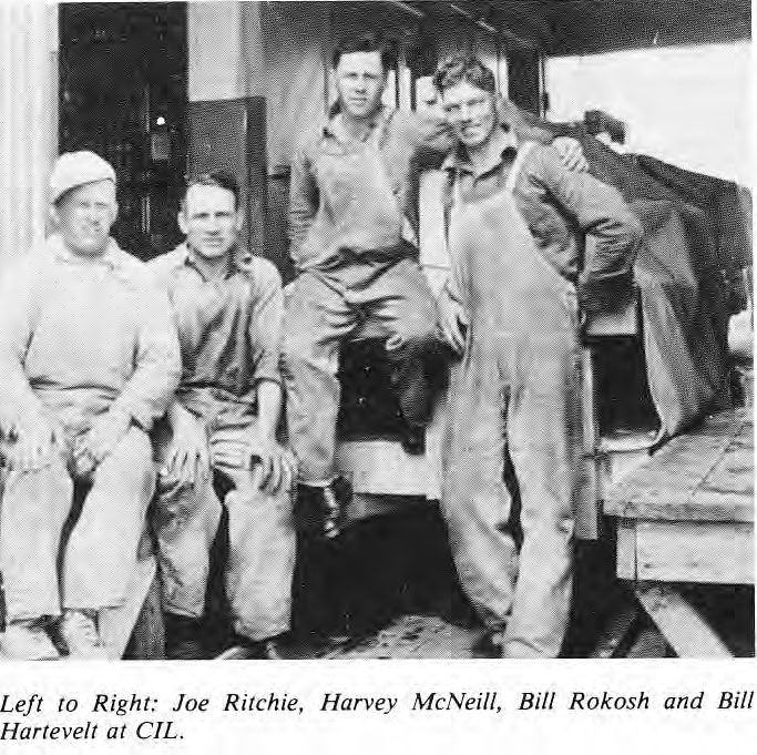 Joe Ritchie, Harvey McNeill, Bill Rokosh, Bill Hartevelt at CIL