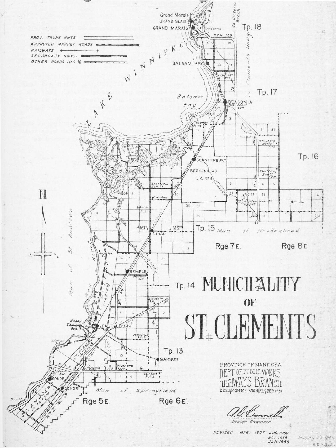 Map of RM of St. Clements