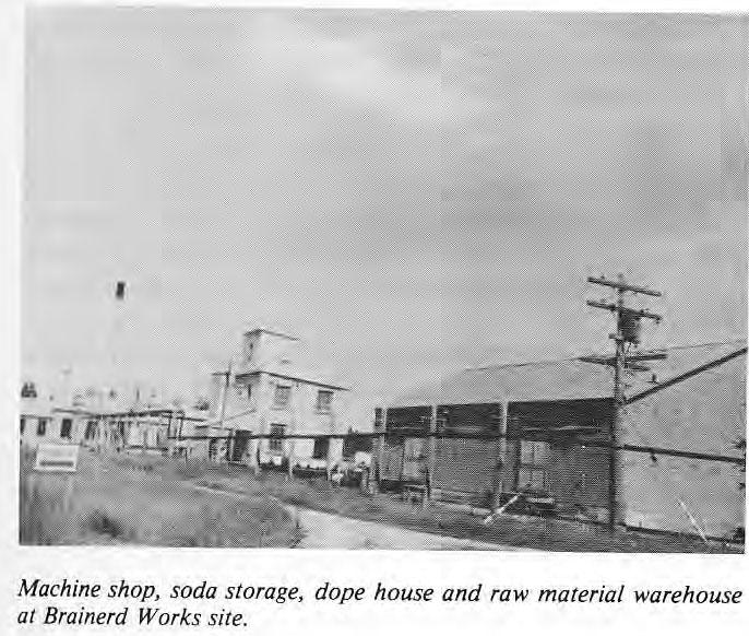 Machine Shop, soda storage, dope house and raw materials