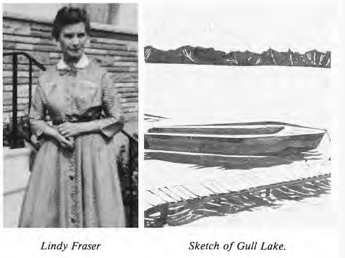 Lindy Fraser and Sketch of Gull Lake
