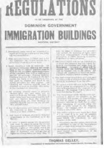 Immigrant Building Regulations