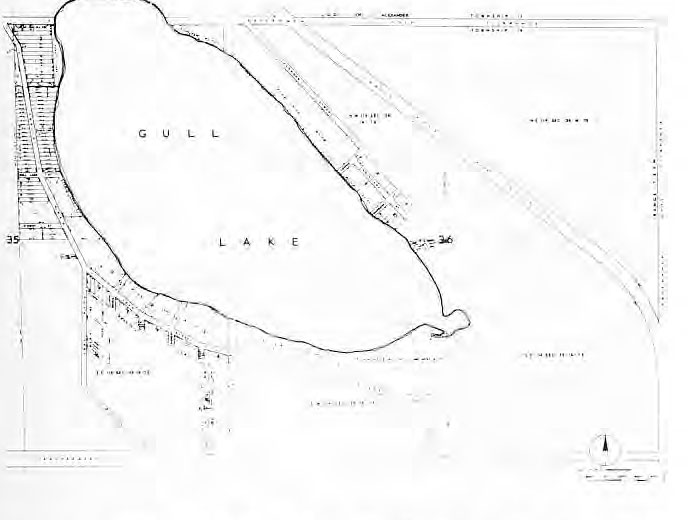 Map of Gull Lake