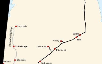 Map of Hudson Bay Rail Line