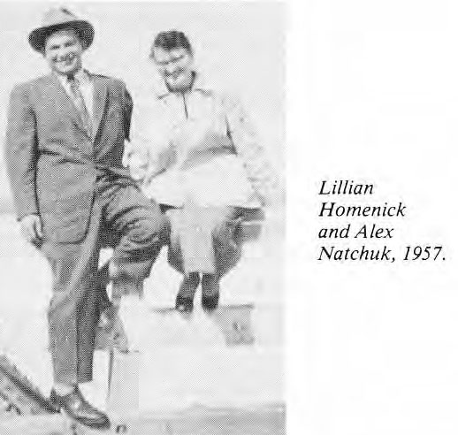 Lillian Homenick and Alex Natchuck 1957