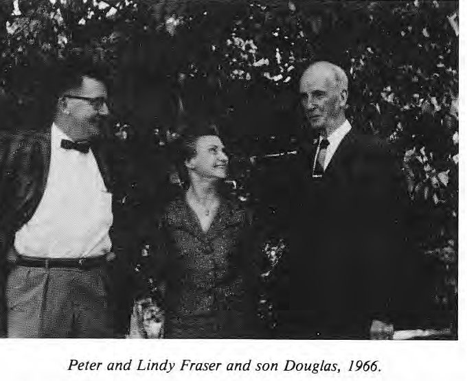 Peter and Lindy Fraser with son Douglas, 1966