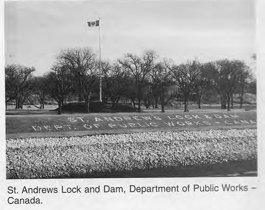 Lock and Dam Department of Public Works Sign
