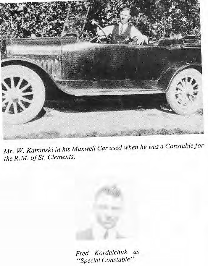 Constable W. Kaminksi with Maxwell car