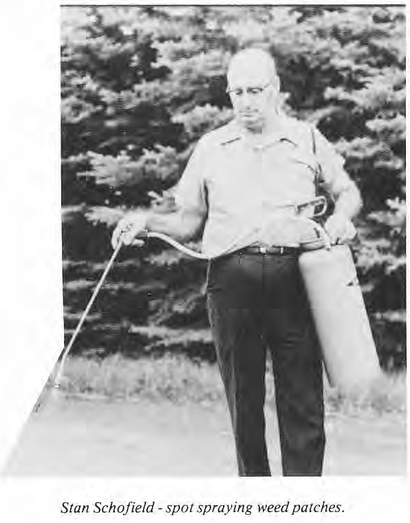 Stan Schofield spot spraying weed patches