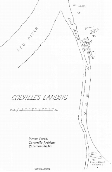 Map of Colvilles Landing