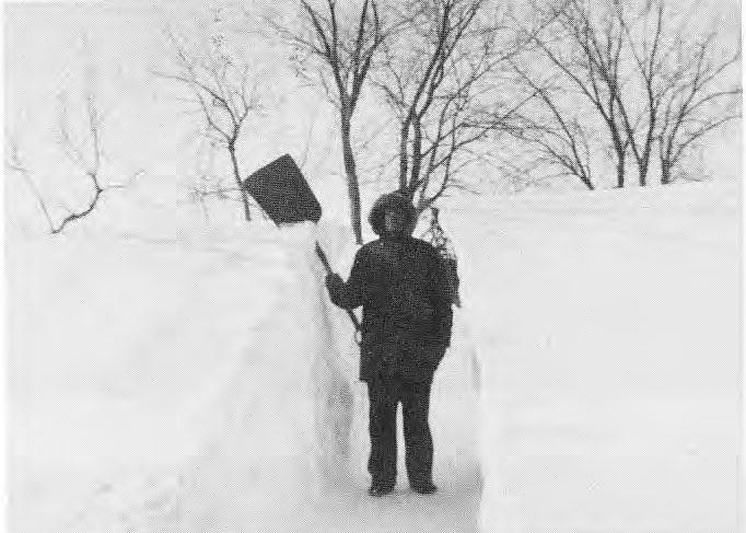 Jake Davis in the Big Snow storm of 1966.