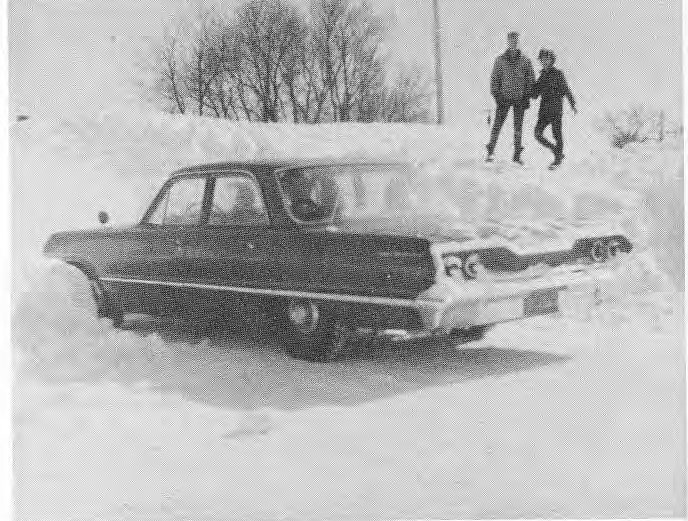 Storm of march 1966, looking east on Colville Road from the Corner of Henderson Hwy. and Coviller Road. Fred and David Harrison.