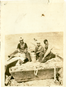 Fishing in Lake Winnipeg, early 1900s