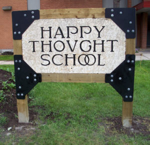 Front of Happy Thought School Sign