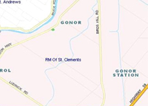 Map of Gonor and Narol