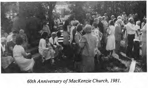 60th Anniversary, McKenzie Church