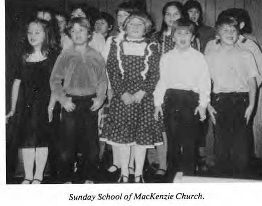 Sunday School, McKenzie Church