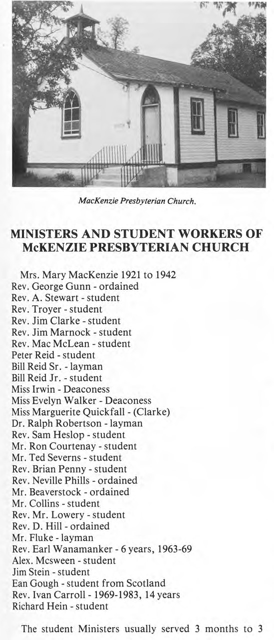 Ministers and Students