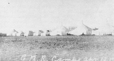 CNR Campsite, April 12, 1911.