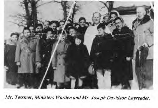 Mr Tessmer, Ministers and Mr. Joseph Davidson, Layreader