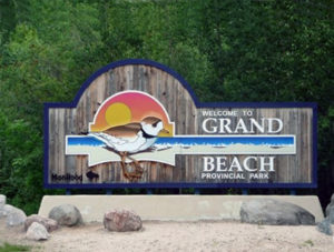 Sign for Grand Beach Provincial Park
