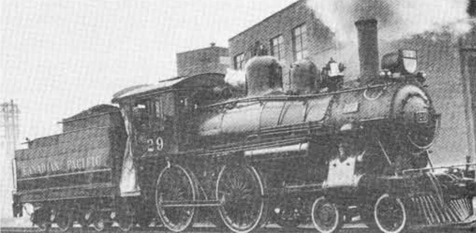 CPR Engine 29, a 4-4-0 type built in 1882.