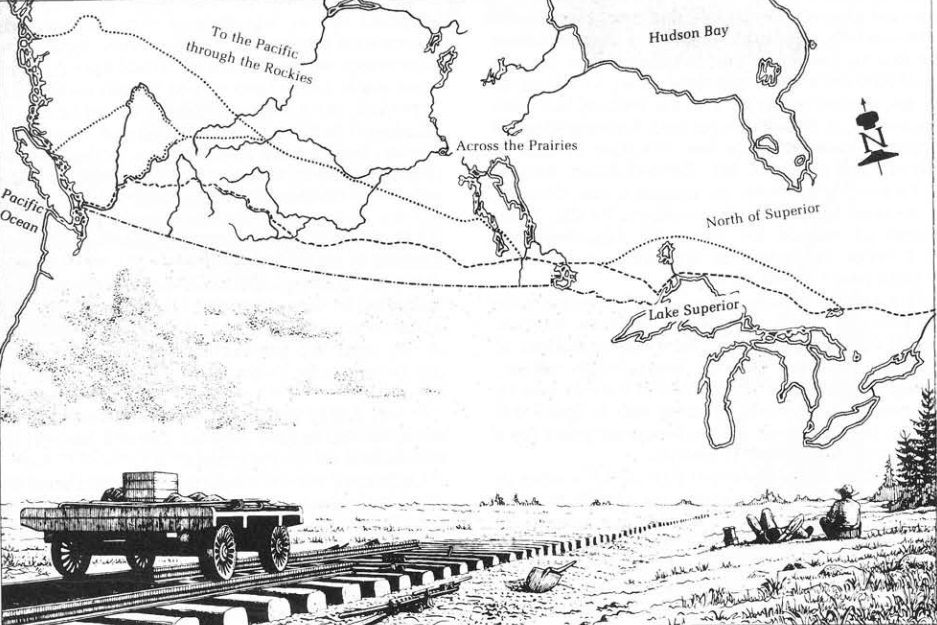 The Battle of the Routes ... Each of the routes sketched below was considered for the Canadian Pacific Railway.